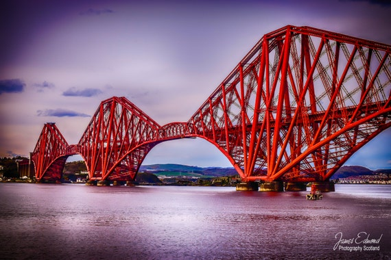 Forth Bridge, Digital Download, Landscape Photography, scottish prints, wall art, fine art photography, river, scottish photography
