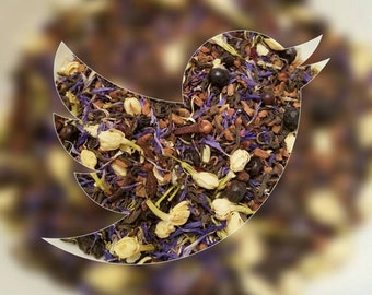 Jasmine - Spice tea, Loose Leaf Tea, Herbal Tea, Girl Power, Disney Inspired, Pu'erh Tea, Cornflower, Clove, Cinnamon, Juniper Berry