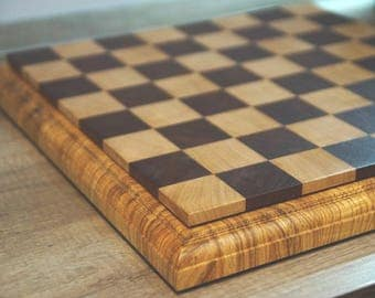 Chess. Chess board. End grain chess board. Wooden chess board. Exclusive chess board.