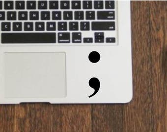 Semi colon vinyl decal sticker for mental health awareness, your story isn't over symbol