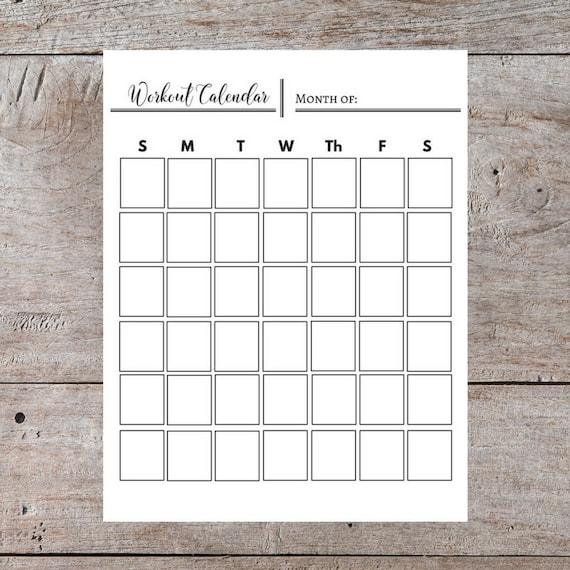generic monthly calendar