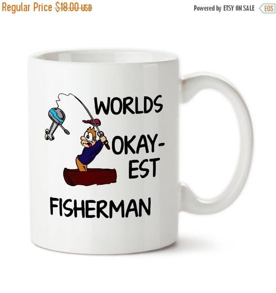 Worlds okay est fisherman fishing gift fisherman by for Fishing gag gifts