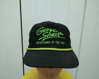 Rare Vintage GEORGE STRAIT Entertainer Of The Year Spell Out Cap Hat Free size fit all