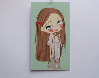 100 PRICE TAGS HANG Tags Retail Tags Boutique Tags Cute  Girl  1 Clothing Tags With 100 Plastic Loops