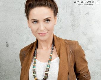 Amberwood natural amber handmade necklace