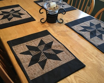 Set of 6 - Primitive Country Placemats