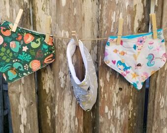 Bandana Bib Set - Set of Three Bandana Bibs - Baby Shower Gift Set - Ready to Ship - Baby Boy Bibs - Drool Bibs - Food Bibs