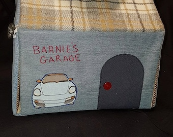 Fabric Carry Along Portable Dollhouse Garage Plus Accessories
