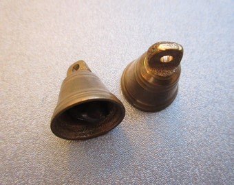 Tibetan Brass Bell Charms 2pcs