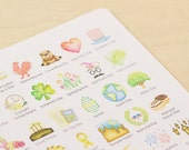 US Holidays Watercolor Planner Stickers - Small (Inkwell Press, Erin Condren, Plum Paper, Fliofax, Kikki K, Happy)