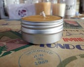 Beeswax Candles, All Natural, Organic Cotton Wick, Tealight, Locally Sourced, Relaxing, Purifies Air, Reusable Tin