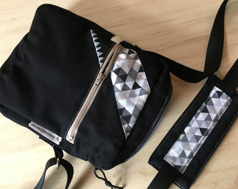 Mens shoulder bag * contact ME - to order only - fabric choices *.