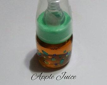 Sealed, No Hole Nipple Apple Juice Reborn Bottle!