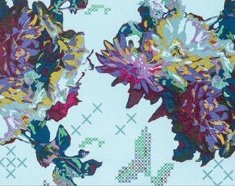1/2 YARD or Full YARD Anna Maria Horner Mod Corsage Fabric - Pattern ~ Memory - Color~ Float