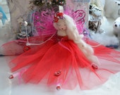 Fairy doll Angel tree topper or shelf sitter.   Needs a loving home.xxx