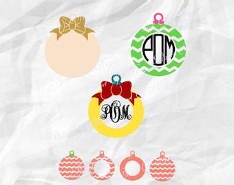 Ornament SVG File, Christmas Monogram Svg, Christmas Ornaments Svg, Holiday Svg, Christmas Ball SVG, Christmas Cutting File, Cricut File