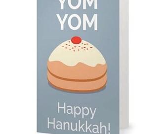 YOM YOM     Funny Hanukkah Card
