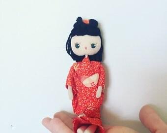 Sweet Vintage Posable Geisha Doll - OSVKIT001