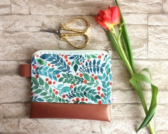 Floral pencil case / cosmetics case
