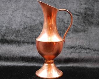 Copper Vintage  vase made in Sweden / home decor/ kitchen decor / container .