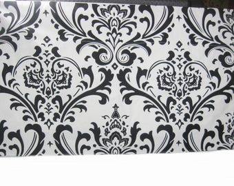 2 Pcs Black and White Kitchen Curtain Valance, Window Treatment