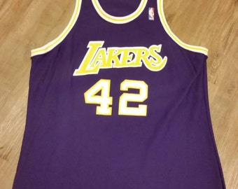 Lakers sand knit jersey,XL, James Worthy,jersey, vintage jersey