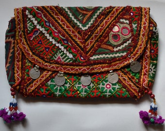 Banjara coin clutch- Bulbul- bohgo clutch- handmade