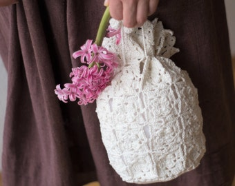 Bridal Lace Pouch Bag Handmade
