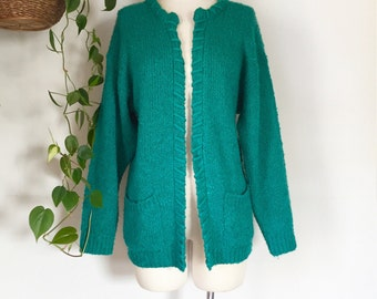 Recycled Vintage Turquoise Cardigan