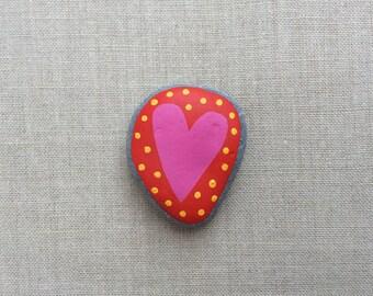 Love heart pebble