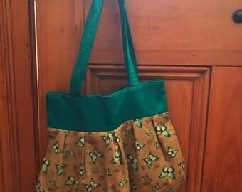 Shoulder bag tote - reversible - Butterflies