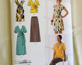 Simplicity 2369 Size 16-24 Misses Dress in 2 Lengths or Tunic & Pants Sewing Pattern  / UNCUT Factory Folded