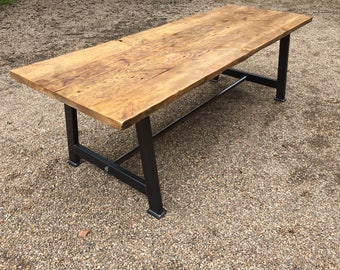 Reclaimed wood hand made dining table