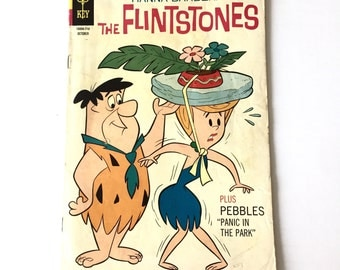 1967 The Flintstones Comic Book Hanna Barbera Fred Flintstone