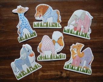 6 Martha Hauser Animal stickers