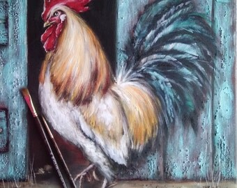 Rooster Petr Petrovich Oil Painting