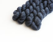 Hand dyed embroidery yarn   charcoal blue   embroidery wool   wool   silk   laceweight knitting   cross stitch   tapestry   weaving   20m