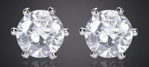 Crystal Stud Earrings BLIng Large Size!