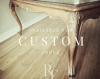 Vintage Coffee Table to Custom Tufted Ottoman