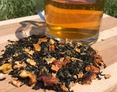 Southern Summer Loose Leaf Tea, Ceylon Tea, Orange, Lemon, Mint, Spearmint, Peppermint, Peaches and Tulsi Leaf