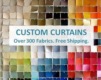 Custom Curtains: FREE Shipping, Fully Lined, Handstitched - Window Curtains, Made to Measure Drapes, Window Panels