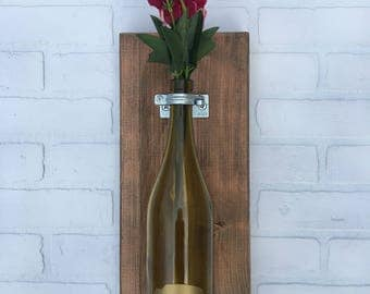 Buffalo Wine Bottle Sconce