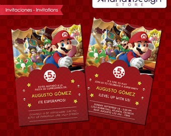 Mario Party Printable Invitation