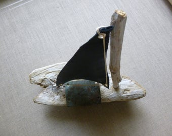 Barnacle Driftwood Boat