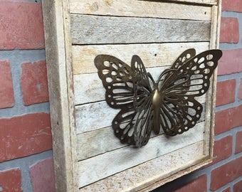 Butterfly, Butterfly Decor, Rustic Butterfly, Metal Butterfly, Butterfly  Wall Art, Farmhouse