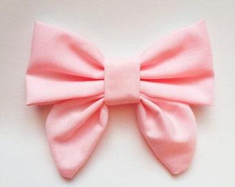 Baby Pink Sailor bow, baby headbands, hair bows, headbands, baby girl, girl toddler, baby gifts, sailor bows