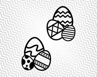 Easter Eggs, Easter Bunny, Happy Easter, Cutout, Cricut, Silhouette Cameo, die cut, instant download, Digital Cut, Print Files, Ai, Pdf, Svg