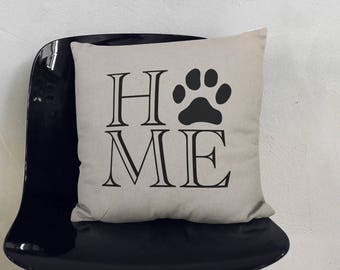 Personalized Pillow, Paw Print Home, Custom Pillow, Pillow Cover, Wedding Gift, Anniversary Gift, Housewarming Gift, Home Decor, Home Gifts