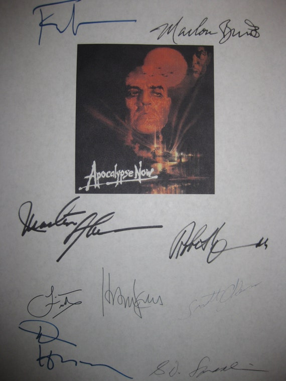 Apocalypse Now Signed Film Movie Screenplay Script X9 Autograph Marlon Brando Martin Sheen Harrison Ford  Francis Ford Coppola Robert Duvall