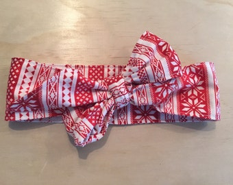 Christmas 0-5 years big bow headband